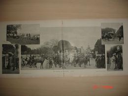 Lamina-Paris-1900--Aux Courses De Longchamp-L'Arrive--La Tour Saint-Jaqcques- - Ancianas (antes De 1900)