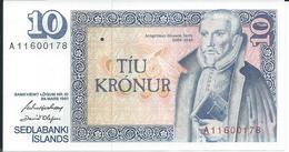 ISLANDE  10  Kronur   1961   -- UNC -- - Island