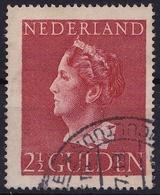 1946 Koningin Wilhelmina 2½ Gulden Roodbruin NVPH 347 - Periode 1891-1948 (Wilhelmina)