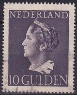 1946 Koningin Wilhelmina 10 Gulden Violet NVPH 349 - Periode 1891-1948 (Wilhelmina)