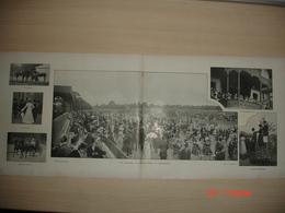 Lamina-Paris-1900--La Journee Du Grand Prix A Longchamp-Retour De Longchamp-Le Cimitiere Montmartre - Ancianas (antes De 1900)