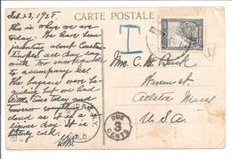 Postage Due T 23.2.1928 To USA -Due 3 Cents - Lettres & Documents