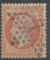 Lot N°54688   Variété/n°23, Oblit étoile Chiffrée 7 De PARIS (R.des Vlles-Haudrtes), Tache Blanche Blanche E Et M De EMP - 1862 Napoléon III