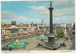 Trafalgar Square And Nelson's Column, London - (John Hinde Postcard) - Trafalgar Square