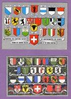 Suisse Canton  Armorial Des Cantons Suisses - Armoiries Le Lot De 3 Cartes Postales - Non Ecrites - - Otros