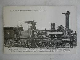 FERROVIAIRE - Locomotive - Coll. F. Fleury - Machine N° 13 Service Express - Construite Par M. Polonceau - P.O - 1850-70 - Trains