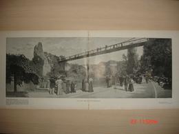 Lamina-Paris-1900--Le Parc Des Buttes-Chaumont-Le Jardin-Le Lac - Ancianas (antes De 1900)