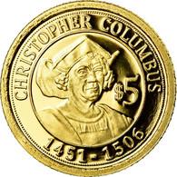 Monnaie, Nauru, Christophe Colomb, 5 Dollars, 2010, FDC, Or - Nauru