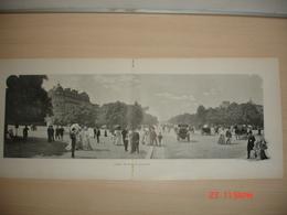 Lamina-Paris-1900--Avenue Du Bois-De-Boulogne--Theatre Marigny-Chanteurs Ambulants - Ancianas (antes De 1900)