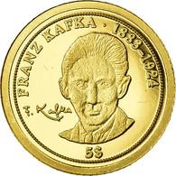Monnaie, Nauru, Franz Kafka, 5 Dollars, 2008, FDC, Or - Nauru