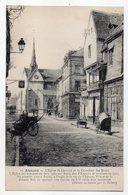 ALENCON-- Dessin Au Fusain Illustrateur S. Broux -- L'Eglise St Léonard Et Le Carrefour Des Etaux.......à Saisir - Alencon