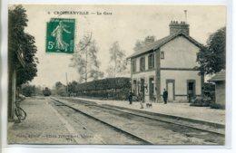 14 CROISSANVILLE Arrivée Du Train En Gare Voyageurs Sur Le Quai 1911  écrite Timb  /D13-S2017 - Autres Communes