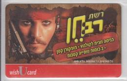 ISRAEL WISH U CARD CINEMA NET RAV CHEN JOHNNY DEPP PIRATES OF THE CARRIBEAN - Altri