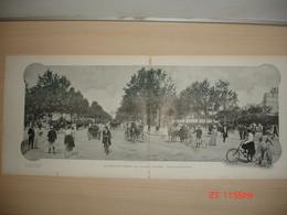 Lamina-Paris-1900--Au Rendez-Vous General Des Ciclystes-(Porte Maillot-Avenue De La Grande-Armee - Ancianas (antes De 1900)