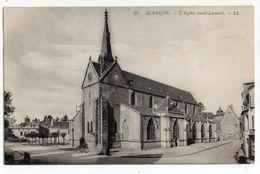 ALENCON-- 1914 - Eglise St Léonard  (beau Cachet ).......à Saisir - Alencon