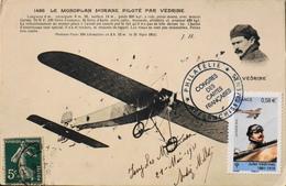 CPA.-  Avions >...-1914: Précurseurs > Le Monoplan MORANE Piloté Par VEDRINE En Médaillon - TBE - ....-1914: Precursori