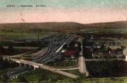 Givet, Panorama, La Gare, Bahnhof, Feldpost 1917 - Givet