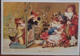 Petit Calendrier Poche 2004 Illustration Guignol Enfants Chapeau éventail.... - Calendars