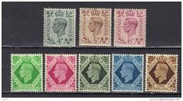 Grande-Bretagne N° 215-221, 222 ** Fraîcheur Postale - 1902-1951 (Kings)