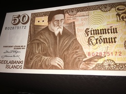 See Photos. Banknotes Iceland 50 Kronur 1961 UNC - IJsland