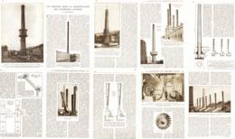 CONSTRUCTION Des CHEMINEES D'USINES  1918 - Other
