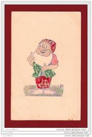 Collage De Timbres Original - Lutin - Nain (Blanche-Neige) - Prof - 2 Scans - Contes, Fables & Légendes