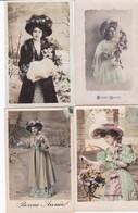 Lot 12 Cpa MODE . Femmes à Chapeau 1900-1910 - Moda