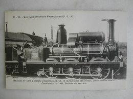 FERROVIAIRE - Locomotive - Coll. F. Fleury - Machine N° 1276 à Simple Expansion Pour Service Mixte - P.L.M. - 1865 - Trains