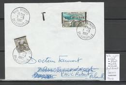 Algerie -EA - Lettre - Yvert 1203 - Barrage FOUM - Timbre INADMIS - TAXE -09/62 - Algerien (1924-1962)