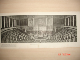 Lamina-Paris-1900--Salle Des Seances De La Chambre Des Deputes--Le Cabinet Du President-Le Salon De La Paix - Ancianas (antes De 1900)