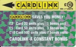 UK(GPT) - Jigsaw Design(CLK005), Cardlink Telecard, First Issue 10 Pounds, CN : 2CLKC, Tirage %10000, Used - Ver. Königreich