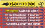 UK(GPT) - Arrowhead Design(CLK004), Cardlink Telecard, First Issue 5 Pounds, CN : 1CLKD, Tirage 5000, Used - Ver. Königreich