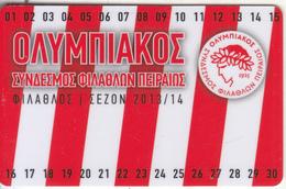 GREECE - Olympiacos FC, Season Ticket 2013-2014, Unused - Sport