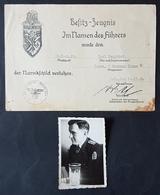 Original Besitzzeugnis Narvik Schild + Foto Des Trägers, Ob. Masch. Mt. Zerstörer Hermann Künne, 10.11.40 - Documents