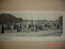 Lamina-Paris-1900--Sur La Pelouse Au Bois De Vincennes--Le Cascade De Saint-Cloud-L'Entree Du Chateau De Chantilly - Ancianas (antes De 1900)