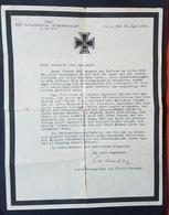 Original Trauerbrief Kriegsmarine M 47587, Befehlshaber Unterseeboote U-Boot,  22.5.44 - Documents