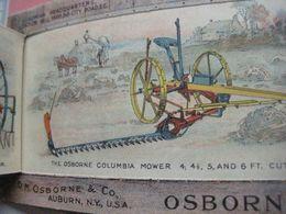 Uitvouwkaart, Uitklappers - Agricultulture Brochure1878 OSBORNE Auburn USA Farm Implements Landbouw Werktuigen VG - Visiting Cards