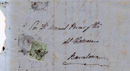 Año 1873 Edifil 133 Alegoria Carta Matasellos Rombo Palma De Mallorca - 1873 1. Republik