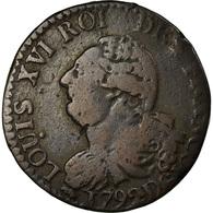 Monnaie, France, Louis XVI, 3 Deniers François, 3 Deniers, Liard, 1792, Lyon - 1789-1795 Monnaies Constitutionnelles