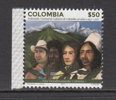 2017 Colombia Coffee Growers Cafe Kafe Complete Set Of 1  MNH - Colombie