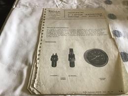 JAEGER Tachymètre A Capteur  Magnétique Levallois-Perret 6 Pages  Notice - Advertising