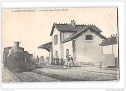 CPA 18 Blancafort La Gare Et Le Train Tramway Ligne D'Argent La Guerche - Autres Communes