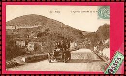 NICE - La Grande Corniche Au Col D'Eze. (recto Verso) - Transport (road) - Car, Bus, Tramway