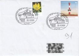 Germany 2020 :  Ship, Kiel, Hospital Ship Helgoland, Lighthouse Wangerooge, Special Postmark, Fine Used Cover - Schiffe