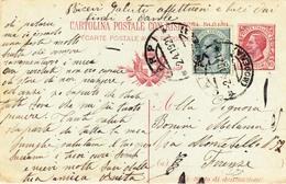 C.P. Mill. 18 Domanda Cent.10 +  5 Da Carpi A Firenze - 1900-44 Victor Emmanuel III