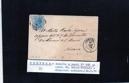 CG29 - Lettera Da Crevola Per Novara 20/9/1876 - Marcophilia