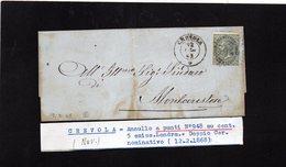 CG29 - Lettera Da Crevola Per Montecrstese 12/2/1868 - Marcophilia