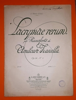 Spartito - Lacrymae Rerum - Amilcare Zanella - Pianoforte - 1920 Ca. - Vecchi Documenti