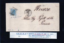 CG29 - Lettera Da Crodo Per Novara 28/11/1870 - Marcophilia