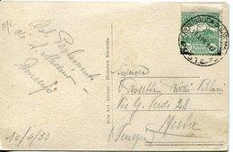 52856 San Marino, Cart.postale Viagg. Con C.25 Verde 1933 - Saint-Marin